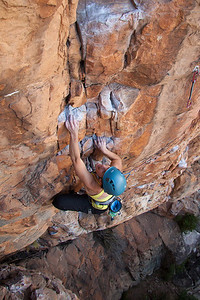 Cath getting to grips with the end of the crux