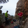 Belayer 1 Gareth and I get ready to head up Auto de Fe 21