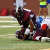 Loose ball at the Carroll Thomas Stadium Friday night between West Brook and Central. Photo provided by Drew Loker.