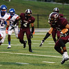 Central's Carnell Seals, 5, runs the ball at the Carroll Thomas Stadium Friday night. Photo provided by Drew Loker.