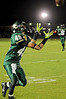 East Chambers' Landon Prejean sets to receice a punt against Hardin-Jefferson at Buccaneer Stadium Friday night. Photo provided by Drew Loker.