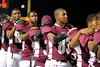 Central Jaguars display pink during Friday's Pink Out for breast cancer awareness at the Carroll Thomas Stadium. Photo by Drew Loker.
