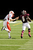 Central Jaguars and Lumberton Raiders match at the Carroll Thomas Stadium Friday night. Photo by Drew Loker.