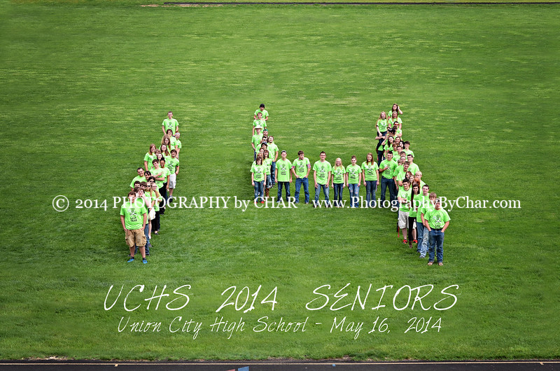 14 football field UCHS 2014 Seniors V&W