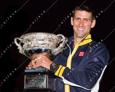 2013 Australian Open winner Novak Djokovic