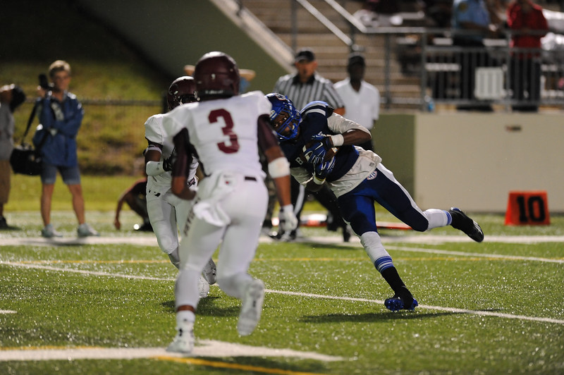 The Central Jaguars match up against the West Brook Bruins at the Carroll Thomas Stadium Friday night. Photo by Drew Loker.