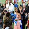 The West Brook Bruin 2014 Homecoming Queen, Mai' Zhare Zeno, is crowned at the Carroll Thomas Stadium Friday, Sept 19, 2014. Photo by Drew Loker.