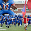 The West Brook Bruins get ready to take the field against the Taylor Mustangs at the Carroll Thomas Stadium Friday, Sept 19, 2014. Photo by Drew Loker.