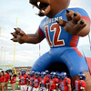 The West Brook Bruins prepare to charge the field for the match up against the North Shore Mustangs at the Carroll Thomas Stadium September 26, 2014. Photo by Drew Loker.
