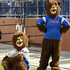 West Brook Bruin mascots watch from the sideline during match up against the North Shore Mustangs at the Carroll Thomas Stadium September 26, 2014. Photo by Drew Loker.