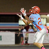 Lumberton Raider Keaton Upshaw, 20, sets up for a kickoff return aginst the Central Jaguars at Lumberton High School October 3, 2014. Photo by Drew Loker