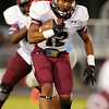 Central Jaguars Devwah Whaley, 12, looks for an opening during the game against the Lumberton Raiders at Lumberton High School October 3, 2014. Photo by Drew Loker