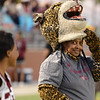 Central Jaguar mascot alumni gets ready for the game against the Vidor Pirates at the Carroll Thomas Stadium October 24, 2014. Photo by Drew Loker