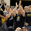Vidor Pirate fans show their spirit during the match against the Central Jaguars at the Carroll Thomas Stadium October 24, 2014. Photo by Drew Loker