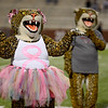 Central Jaguar alumni mascots prepare for the homecoming game against the Vidor Pirates at the Carroll Thomas Stadium October 24, 2014. Photo by Drew Loker
