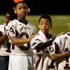 Young Central Jaguars prepare for the game against the Vidor Pirates at the Carroll Thomas Stadium October 24, 2014. Photo by Drew Loker