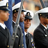 Members of the Central Jaguar ROTC prepare for the game against the Vidor Pirates at the Carroll Thomas Stadium October 24, 2014. Photo by Drew Loker