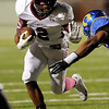 Central Jaguar Exavier Jones, 2, looks to get into the endzone against Ozen Panthers at the Carroll Thomas Stadium October 17, 2014. Photo by Drew Loker
