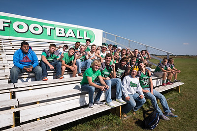 LItchfield Dragons High school Homecoming Powder puff football game 2014