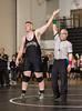 High School Wrestling. Union-Endicott Tigers at Corning Hawks. January 20, 2015.
