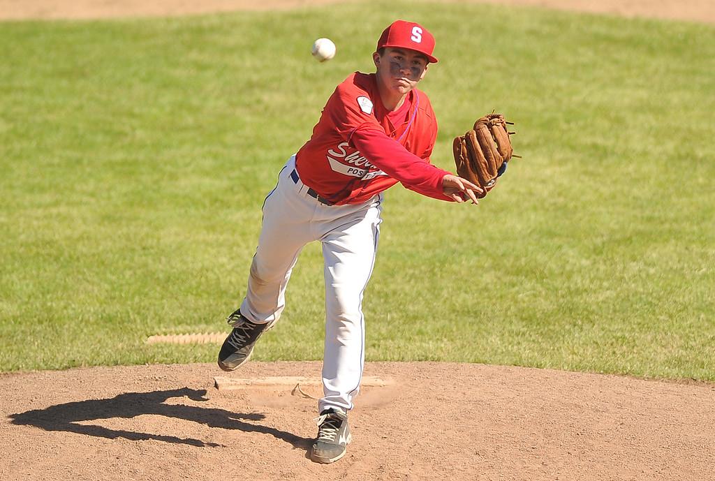 Sheridan Jet Noah Gustafson pitches the ball Thursday at Thorne-Rider Stadium. The Sheridan Press|Mike Pruden
