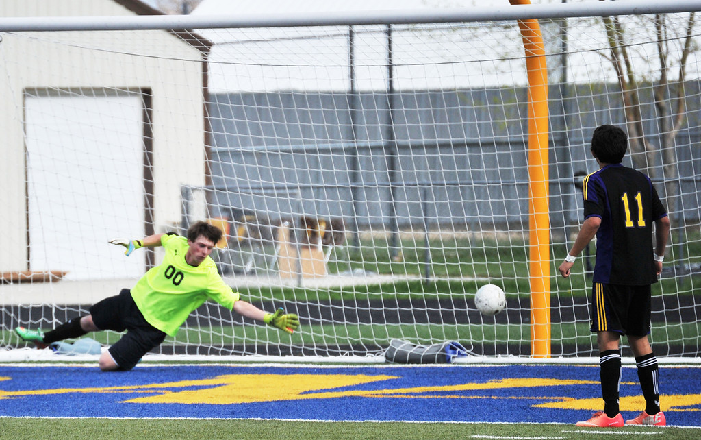 Sheridan goalkeeper Jess Edens fails to save the shot that gives Campbell County the 1-0 victory on Friday night at Sheridan High School. The Sheridan Press|Michael Pruden