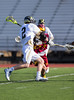 Boys High School Junior Varsity Lacrosse. Ithaca Little Red at Corning Hawks. April 10, 2014.