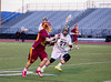 Boys High School Varsity Lacrosse. Ithaca Little Red at Corning Hawks.  April 10, 2014.