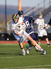 Boys High School Varsity Lacrosse.  Mendon Southerland (Pittsford) Panthers at Corning Hawks. April 21, 2014.
