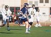 Boys High School Varsity Lacrosse.  Mendon Southerland (Pittsford) Panthers at Corning Hawks. April 21, 2014.