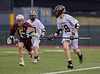 High School Boys Junior Varsity Lacrosse.  Whitney Point Eagles at Corning Hawks. April 25, 2014.