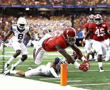 TJ Yeldon Chick-fil-A Kickoff game 2014 West Virginia_v_Alabama at the Georgia Dome