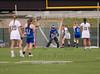 Girls High School Varsity Lacrosse.  Horseheads Blue Raiders at Corning Hawks. May 1, 2014.