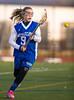 Girls High School Junior Varsity Lacrosse.  Horseheads Blue Raiders at Corning Hawks. May 1, 2014.