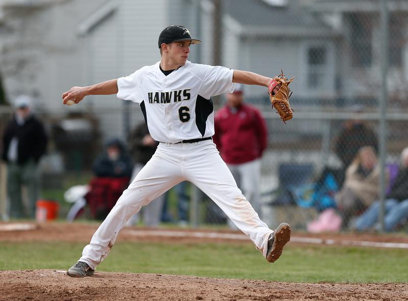 High School Varsity Baseball. Elmira Express at Corning Hawks. April 26, 2014.