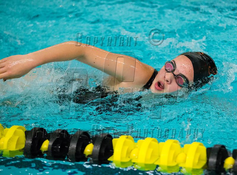 Girls High School Swimming. Union-Endicott Tigers at Corning Hawks. September 11, 2014.
