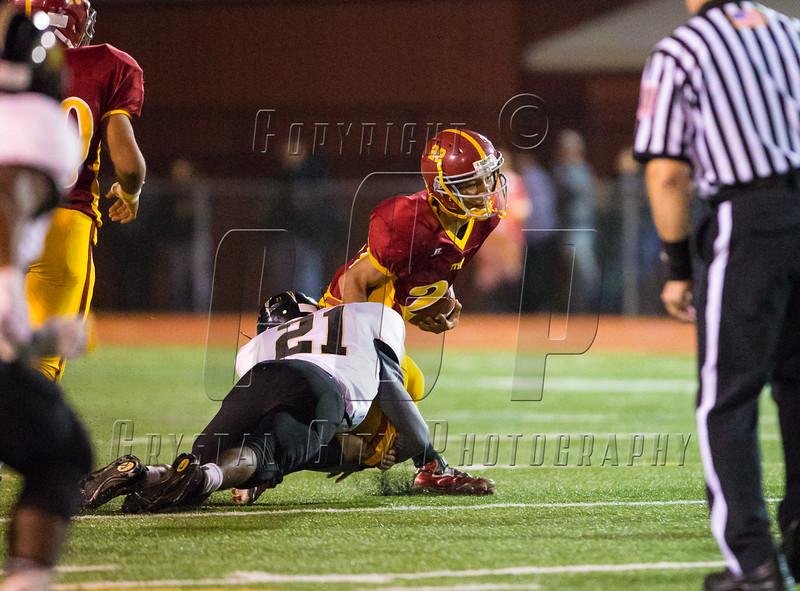 High School Varsity Football.  Corning Hawks at Ithaca Little Red.  September 19, 2014.