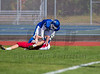 High School Varsity Football.  Ithaca Little Red at Horseheads Blue Raiders. October 4, 2014.