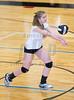 High School Volleyball.  Elmira Express at Corning Hawks. September 25, 2014.