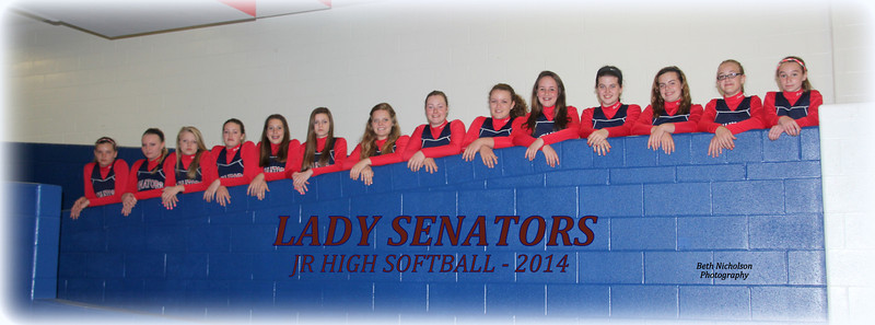 2014 Jr Hi Lady Senators Softball