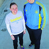 Leominster Sky View Middle School Teacher Danielle Lussier and her training partner Ken Berry of Fitchburg are getting ready to run this years Boston Marathon as part of the Doug Flutie Jr. Foundation for Autism Team. SENTINEL & ENTERPRISE/JOHN LOVE