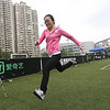 2014 NFL Home Field Shanghai - Week 8 - Participants in the Nike Football Combine can test out their speed in the 40-yard dash and compare their result with top NFL pros.