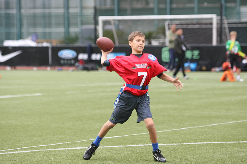 2014 NFL Home Field Shanghai - Week 8 - The local pop-warner football league, Shanghai Youth American Football League (SYAFL), made an appearance at NFL Home Field. The Junior Red Dragons took on the Junior Green Dragons and the Senior Red Dragons up against the Sea Dragons.