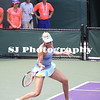 Donna Vekic (CRO) playing against Petra Kvitova (CZE) [8] at the 2014 Sony Open Tennis in Miami, Florida at Crandon Tennis Park on March 22, 2014. Kvitova defeated Vekic in the 3rd round, 6-3, 6-4.