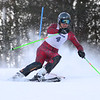 RYAN HUTTON/ Staff photo. <br /> Andover's Ian Bensley tackles the giant slalom during the 2014 Girls Interscholastic Race at Bradford Ski Area.