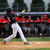 CARL RUSSO/Staff photo. Andover high defeated Waltham 11-4 in baseball tournament action Wednesday night. Andover's Frank Potts foul tips the ball along the third base line. 6/4/2014.
