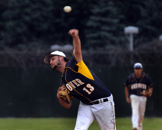 CARL RUSSO/Staff photo. Andover high defeated Waltham 11-4 in baseball tournament action Wednesday night. Andover's pitcher, Reid Bryant in action. 6/4/2014.