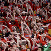 Central Catholic fans cheer during the second half.