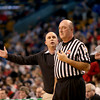 MACentral Catholic head coach Rick Nault reacts to a call right in front of the referee.