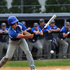 CARL RUSSO/Staff photo. Georgetown high defeated Boston International 12-1 in baseball tournament action on Wednesday. Georgetown's Michael Goddu foul tips the ball.   6/4/2014.